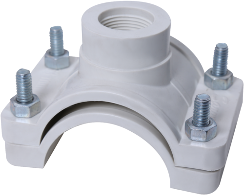4 Inch Pipe Saddle Clamps For Pvc: Snap Clamp 1/2 Inch X 4