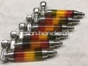 Rasta Acrylic Metal Smoking Pipe