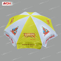 Yellow And White Advaitha Beach Umbrellas, Size: 42 Inch