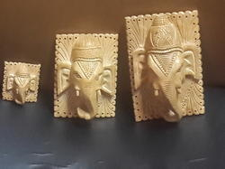 Wooden Ganesh Face