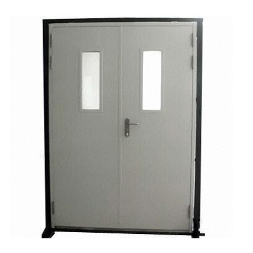 Hinged Fireproof Fire Rated Steel Doors 120 Minutes