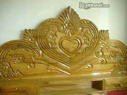 Cot Teek Wood Headboard