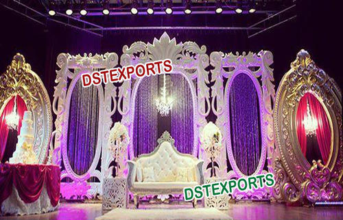 Fiber backdrop panels victorian wedding stage exporter from patiala thecheapjerseys Image collections