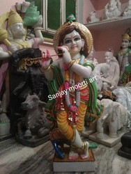 Marble krisna statue