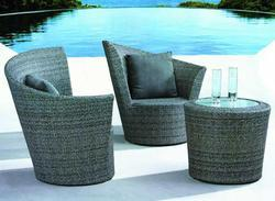Rattan Round Table And Chair Set