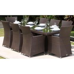 Wicker Outdoor Dining Table Set