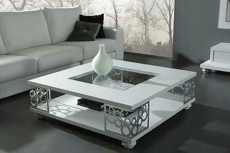 Attirant Stainless Steel White Center Table
