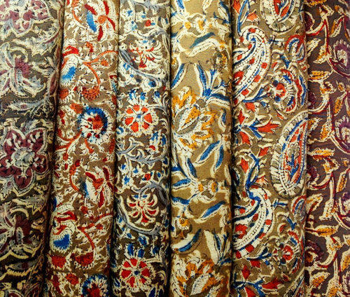 Image result for kalamkari fabric details