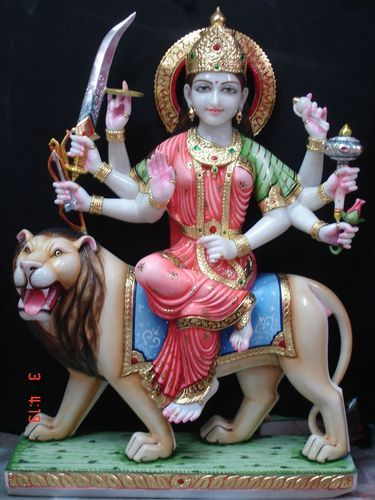 Marble Durga Mata Statue White Marble Durga Statues