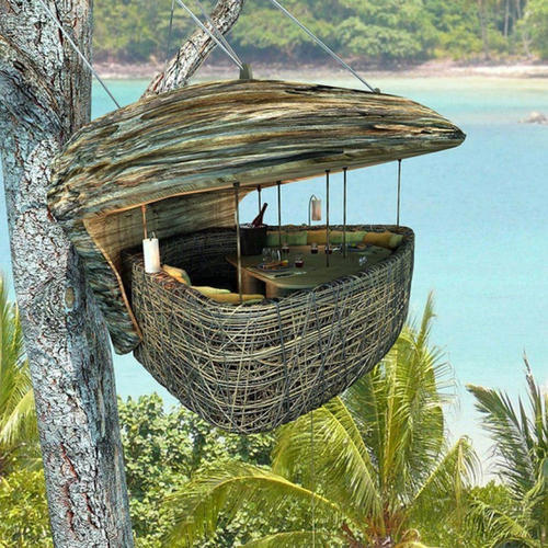 Tree House, Tree House Construction In India - Thatched Roof Eco ...