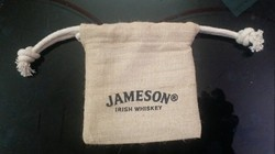 Jute Printed Pouch Bag