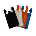 W Cut Plain Colored Plastic Carry Bag, For Grocery, Capacity: 5 Kg