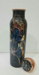 Radha Handicrafts Designer Copper Bottle