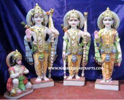 Beautiful Marble Ram Darbar Statues