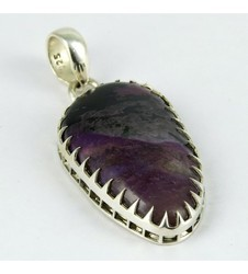 Charoite Sterling Silver Claw Setting Pendant