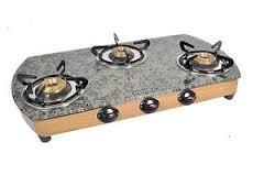 Marble Gas Stove Automatic 3 Burner