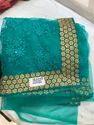 Net Embroidered Saree