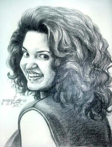 Beautiful pencil sketch size a3