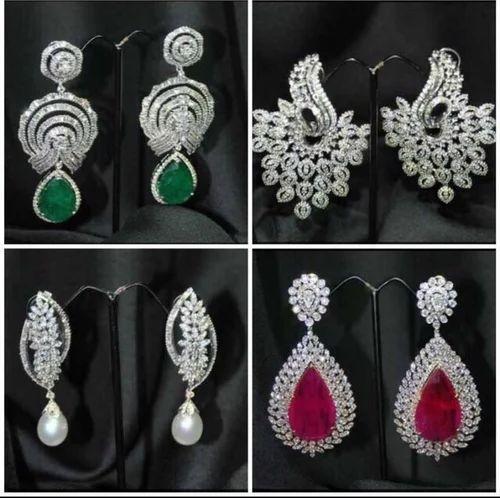 5cc5cdc63 Diamond Danglers at Rs 20000 /piece   Diamond Earring   ID: 10834968488