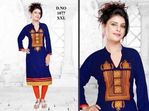 81df0f1899 Rayon Full Sleeve Kurti, Rs 250 /piece, Abu Creation | ID: 16121144462