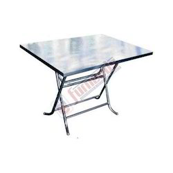 Stainless Steel. Square Spanish Table