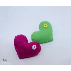 Heart Shaped Felt Fridge Magnet