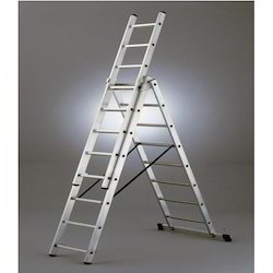 Double Platform Self Supporting Folding Ladder