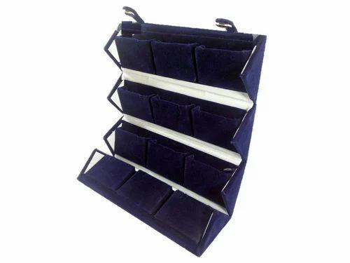 Erthree Foldable Jewelry Roll Travel Case Velvet Travel Jewelry Organizer Roll Portable