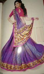 Georgette Printed Fancy Leheria Saree