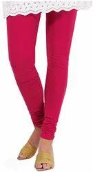 Dark Pink Cotton Leggings
