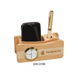 Wooden Table Top Pen Stand
