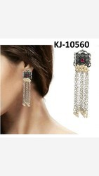 Kaizer jewelry Party and Wedding German Silver Afghani Tassel Earrings