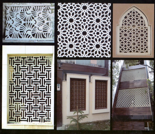 Decorative GRC Jaali GRC Mesh Glass Fiber Reinforced Concrete Mesh Mesmerizing Grc Decoration Design