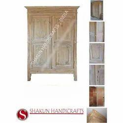 Shakun Handicrafts Brown Rectangular Home Armoire