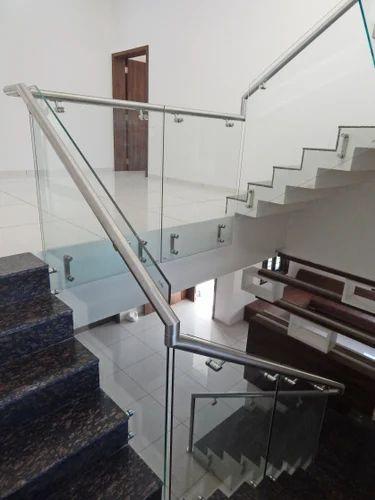 Bar Framless Glass Railing System, Kelco Industries | ID ...