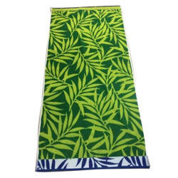 Green Cotton Jacquard Bath Towel