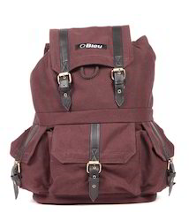 Brown Canvas Backpack Bag