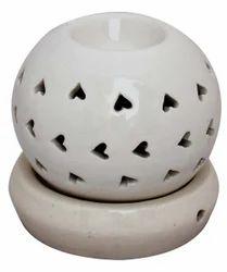 White Round Ceramic Electric Diffuser