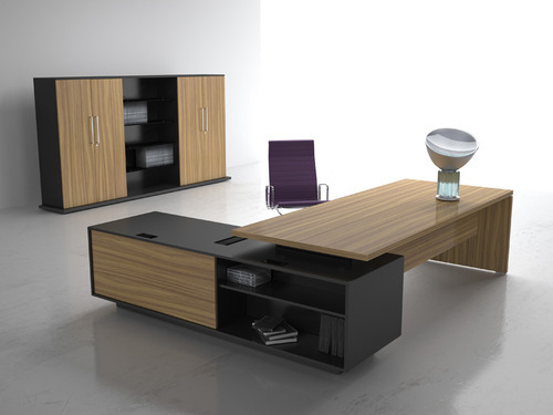 mdm material wooden fancy office tables storage drawers yes rs