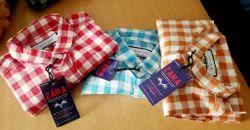 Collar Neck Men''''S Branded Casual Checks Shirts, Handwash
