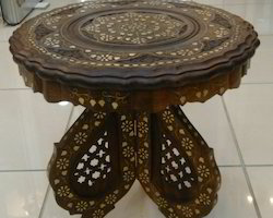 Wooden Brass Table