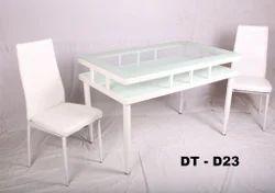 6 Feet X 4 Feet Classic Furn Rectangle Glass Dining Table Set