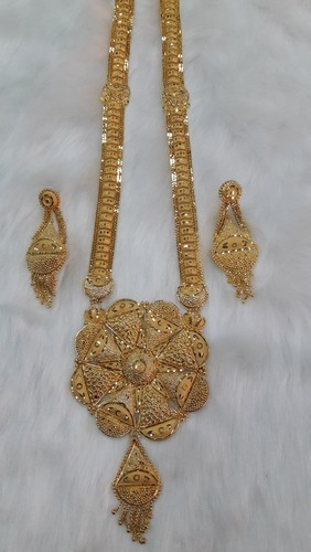 gold with traditional pearls embellished jhumki heavy dp set buy fully necklace jewellery fida