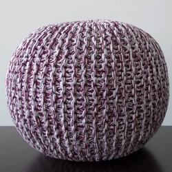 Violet Knitted Pouf