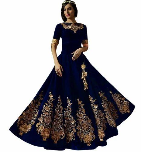 Khusboo Designer World Famous Designer Wedding Party Long Gown at Rs ...