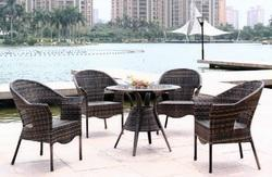 Cobra Style Wicker Outdoor Coffee Set