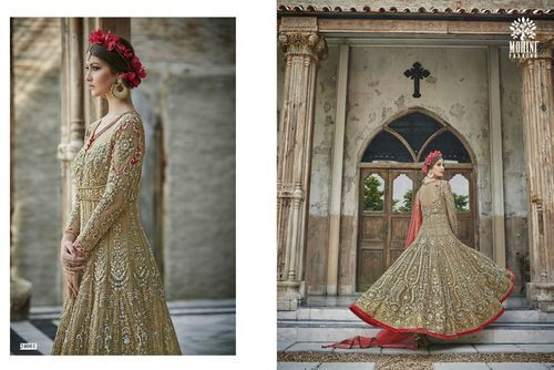 Ladies Net Embroidered Semi-Stitched Suit