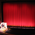 Red Motorized Stage Curtain