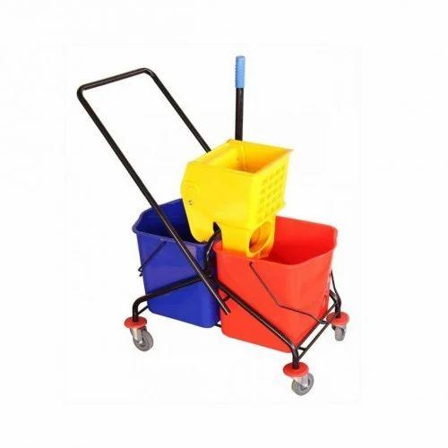 Mop Wringer Trolley Dlx Double Mop Wringer Trolley