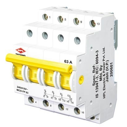 Four Pole MCB Changeover Switch from HPL - HPL India Limited, New ...